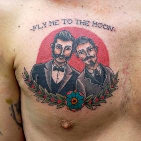 tatuaje de estilo tradicional, pareja, neotraditional tattoo