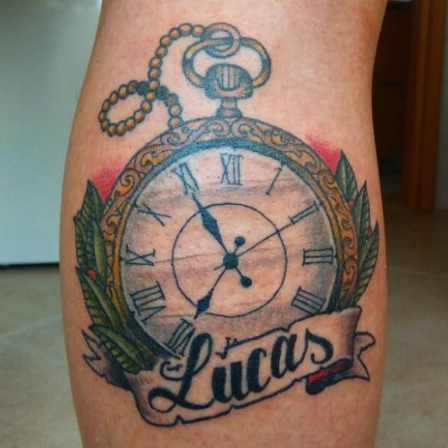 Clock tattoo, tatuaje de reloj